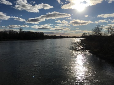 Shining sky and river